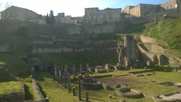 Volterra's Roman Theater & Baths in Spring