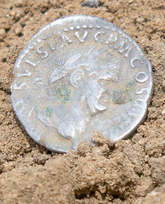 Roman coin - photo by Enrico Nerogotico Sabatini